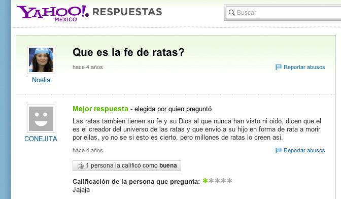 fe de ratas yahoo dating